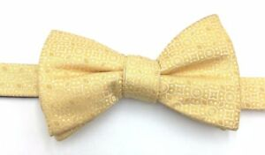 $95 Countess Mara Men Yellow White Floral Bow Tie Casual Silk Adjustable Bowtie