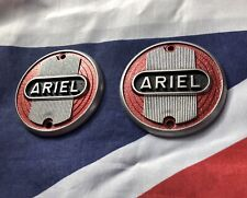 Ariel Tank Badges Motorcycle Emblem Red Black And Silver