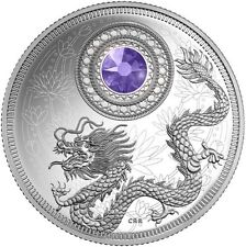 2016 Canada BIRTHSTONES December 1/4 oz Silver Coin Tanzanite Swarovski® Crystal