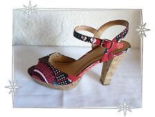 Chaussures Sandales Nu-pieds Imprimés Toile Fleurs  Cable Pointure 40