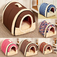 Super Soft Warm Pet Dog Cat Bed House Kennel Mat Pad Washable Puppy Cushion SM/L