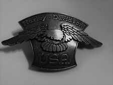 Harley Davidson pin estados unidos Eagle badge sotana rocker mc Biker Chopper Adler rar