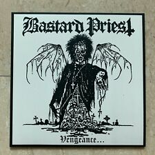 "BASTARD PRIEST Vengeance... Of The Damned 12"" EP BLACK VINYL WITH POSTER"