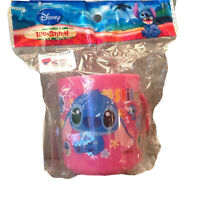 Tokyo Disney Resort Limited Lilo Stitch Plastic Cup And Travel Bag New Pink
