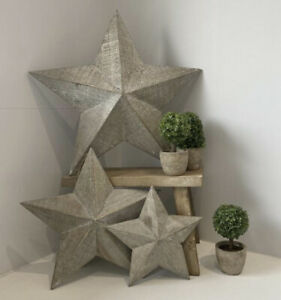 Shabby chic Rustic Amish wooden lucky barn stars in 5 sizes small medium large