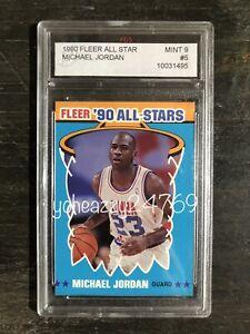 1990-91 Fleer Michael Jordan Graded 9 Basketball Card