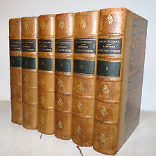 Chateaubriand : Memoires d'Outre -Tombe - Paris '800  6 volumi Ritratti Incisi