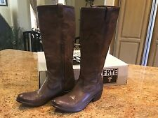 Frye ladies boots. Carson zip tall taupe 9m. New western style