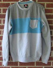 Vintage 80s 90s Sweatshirt Quiksilver Size Large L Gray Blue