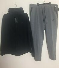 afcedc83899b NIKE TECH FLEECE SWEATSUIT HOODIE   PANTS BLACK  HEATHER GREY WOMEN S SIZE  2X