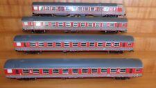 LIMA Set 3 carrozze+ semipilota livrea MDVE rosso/grigio, ILLUMINATE