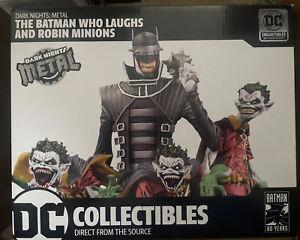 DARK NIGHTS: METAL THE BATMAN WHO LAUGHS & ROBIN MINIONS DELUXE STATUE Joker NEW