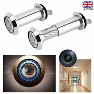 220° Door Peephole Viewer Wide Angle Eye Spy Sight Hole Adjustable Glass Len New