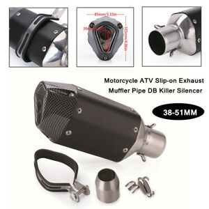 38-51MM Universal Motorcycle Slip-on Exhaust Muffler Pipe Killer Silencer Parts