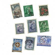 9 Vintage postage stamps loose world/foreign CEYLON