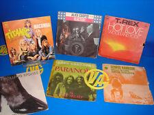 Vinilo Lote 6 singles EPS vinilos ROCK/HEAVY -Alice Cooper-Rolling Stones-T Rex