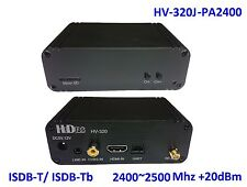 HV-320J-PA2400 FPV Full HD Video Tx(100~2500Mhz), HDMI/CVBS to ISDB-T/-Tb