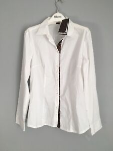 Selection By s.Oliver Women's Gold Sequins White Cotton Shirt Size 14 RRP€60