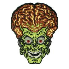MARS ATTACKS ALIEN HEAD PATCH EMBROIDERED SEW/IRON ON PATCH BY RETRO-A-GO-GO