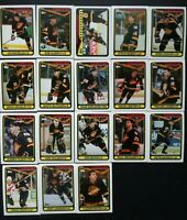 1990-91 Topps Vancouver Canucks Team Set of 18 Hockey Cards