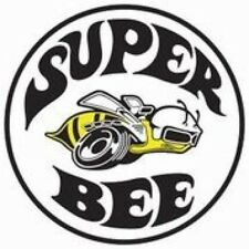 "SUPER BEE DODGE WHITE ROUND METAL 12"" TIN SIGN MAN CAVE RETRO GARAGE CAR TRUCK"