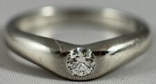 TIFFANY & CO ELSA PERETTI  BAND RING WITH  DIAMOND IN PLATINUM