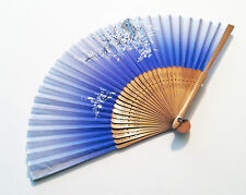 Bridal fan Japanese Bamboo Silk Hand Fan in Cherry Blossom Flower Design