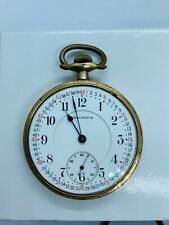 Lever Set Porcelain Dial 21 Jewel 1922 Burlington Railroad Grade Pocket Watch