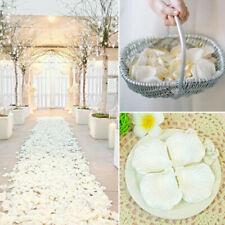100pcs Wedding Silk Rose Petals Bridal Flowergirl Basket Flower-Decora Fake J7W0