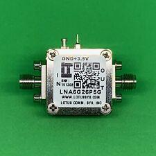 Broadband Low Noise Amplifier 25db Nf 6 265ghz 20db Gain 10dbm P1db 292mm