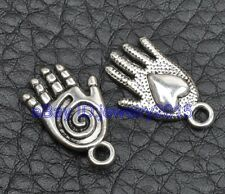 30pcs Tibetan silver charm heart hand pendant fit bracelet 20mm G3400