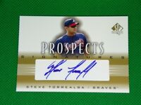 2002 SP Authentic Prospects Signatures #PST Steve Torrealba Atlanta Braves Auto