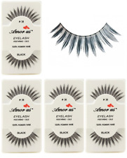 6 Pairs AmorUs 100% Human Hair False Eyelashes # 38 compare Red Cherry