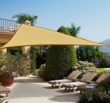 Outsunny - Tendone parasole triangolare, Tenda a vela Anti UV, Beige 5 x 5 x 5m
