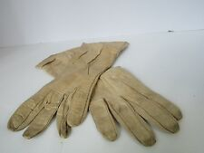 Vintage Gloves Leather sz Small Light Brown Coat Length Costume Steampunk