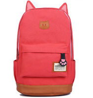 Fashion Women Canvas School Book Cute Girl Backpack Rucksack Travel Shoulder Bag