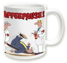 ULI STEIN Porzellan Tasse Henkeltasse Henkelbecher - Kaffeepause Sanitäter - Neu