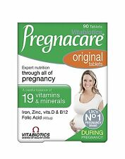 Vitabiotics Pregnacare Original Vitamin Mineral Conception Pregnancy 90 Tablets