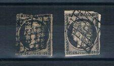 B2898 - FRANCE - Timbres N° 3 et 3a Oblitérés