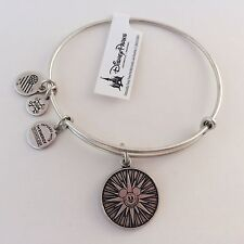 Alex & Ani Mickey's Fun Wheel Bangle Bracelet Silver Disneyland Disney RETIRED