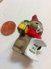 1989 Hallmark Christmas Merry Miniatures Bunny Caroler