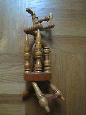 *** Spinnrad Holz Spinnen Miniatur Model Vollholz aus Nachlass * TOP Zustand