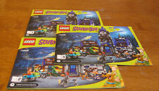 """LEGO  SCOOBY-DOO  75904 INSTRUCTION BOOK 1 & 2 & 3  ONLY  """"  MYSTERY MANSION  """""""