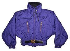 Bogner Vintage Cropped Ski Jacket Women's Size 10 (M) Purple / Gold EXCEPTIONAL