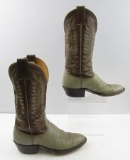Ladies Nocona Brown / Beige Western Cowboy Boots Size: 6.5 B
