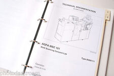 AGFA MSC 101 8506/111 Operation Manual in Binder 26.10.95 - USED 1