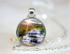 silver Chain Pendant Necklace wholesale Waterfall Mountain Camping dome Tibet