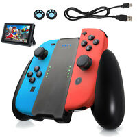 2 Pro Thumb Grip Caps Charging Grip For Nintendo Switch Joy Con w/ Battery