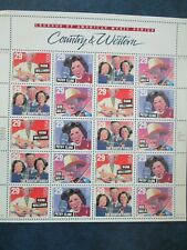Country & Western Music Legends USPS Stamp Sheet  #2774a