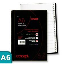 A6 192 página Blancas Libro de índice alfabético Talla 105 mm x148mm